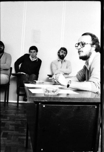 Aula de Adelmo Genro Filho na UFSC (03/06/1981 - foto 2)