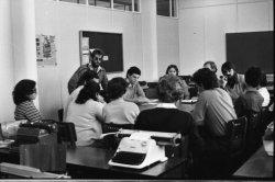 Em reunião de férias no curso de Jornalismo (Julho de 1981)