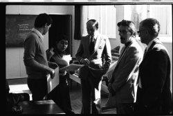 Visita do vice-reitor da UFSC ao Curso de Jornalismo (26/06/1981)